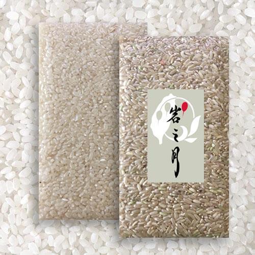 白米(圓米)2000g裝1包 + 糙米(長米)2000g裝1包