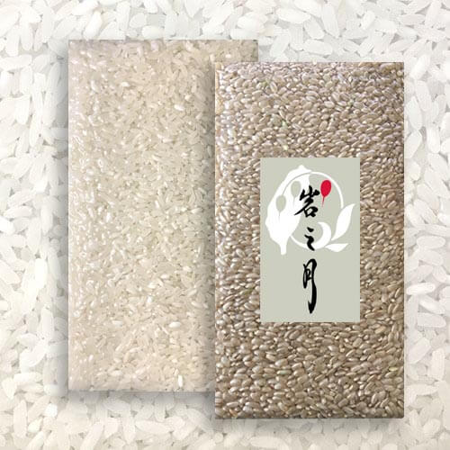 白米(長米)2000g裝1包 + 糙米(圓米)2000g裝1包